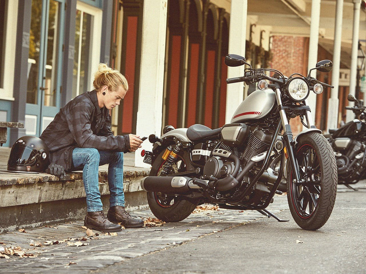 Yamaha Bolt R-Spec motorcycle parked on the road