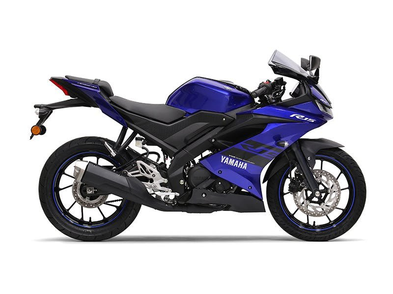 Yamaha YZF-R15 in Racing Blue colour